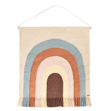 OYOY Tapestry folgt der Regenbogen Multicolor Baumwolle / Wolle 100x115cm