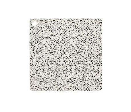OYOY Platzdeckchen Terrazzo Mehrfarbensilikon 38x38x0,15cm