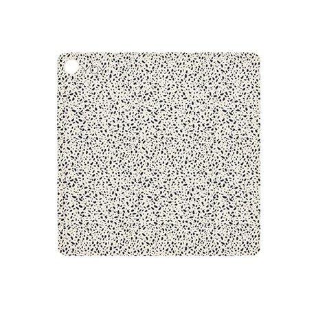 OYOY Napperon terrazzo 38x38x0,15cm silicone multicolore