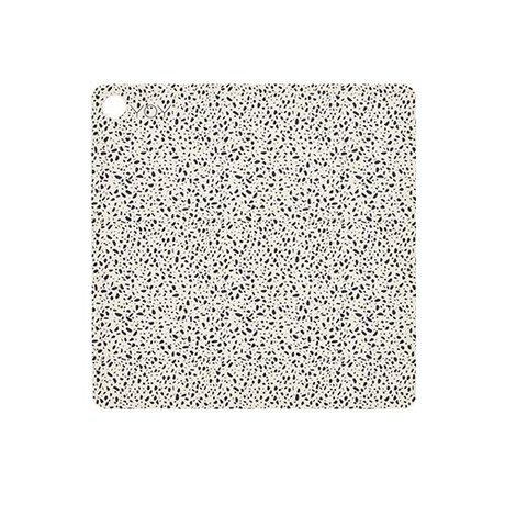 OYOY Placemat Terrazzo multicolor silicone 38x38x0,15cm