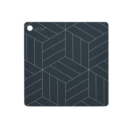 OYOY Placemat Mado dark gray silicone 38x38x0,15cm
