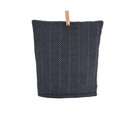 OYOY Cozy 32x30cm coton Momo noir