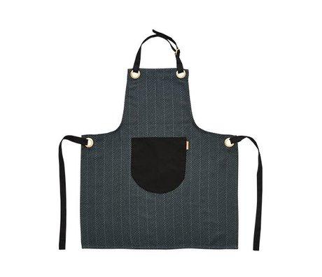 OYOY Kochschürze dunkel Baumwolle 86x72cm