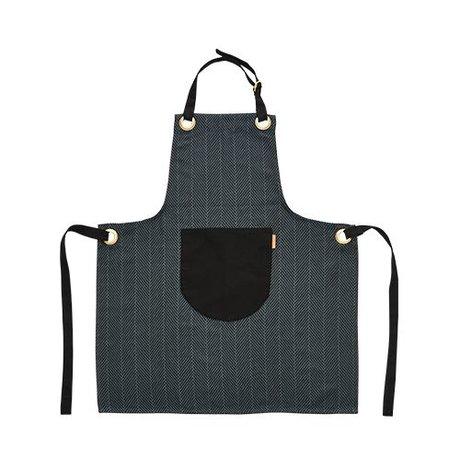 OYOY Kitchen apron dark gray cotton 86x72cm