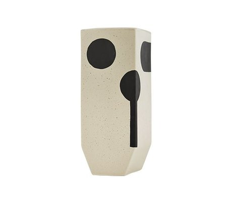 OYOY Vase Rica haute céramique blanc 20x19,50cm
