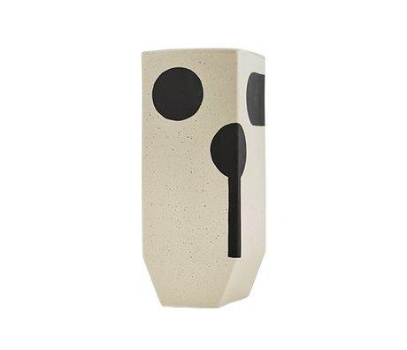 OYOY Vase Rica hohe weiße Keramik 20x19,50cm