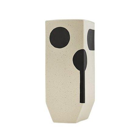 OYOY Vaas Rica high white ceramics 20x19,50cm