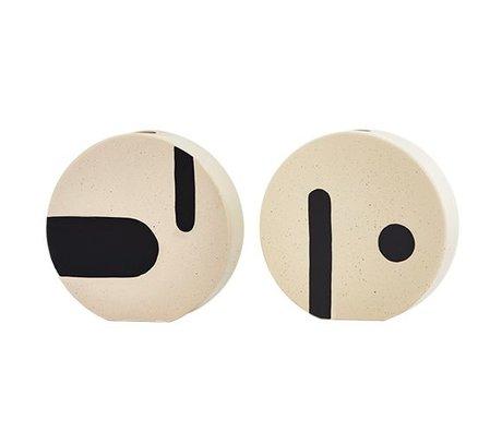 OYOY Vase Rica round white ceramic 20x19,50cm