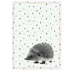 pt, Theedoek egel zwart wit katoen 50x70cm