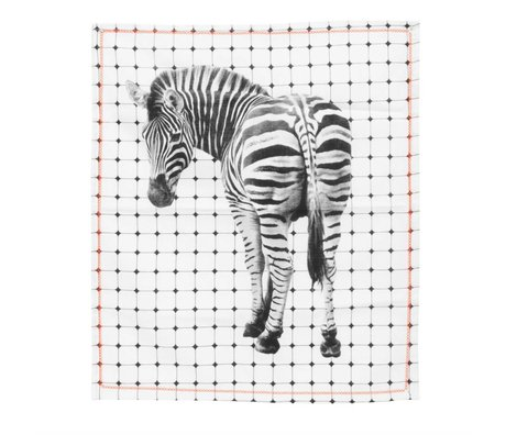 pt, Tea bag zebra black and white cotton 50x70cm
