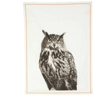 pt, Tea towel oak white cotton 50x70cm