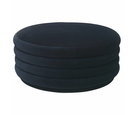 Ferm Living Powder dark blue velvet Ø90x40cm