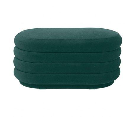 Ferm Living 90x40x42cm de velours vert Pouf