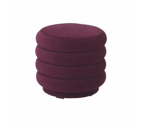 Ferm Living Powder bordeaux red velvet Ø42x40cm