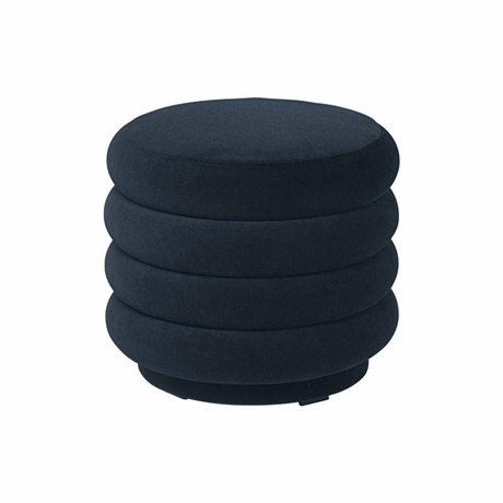 Ferm Living Powder dark blue velvet Ø42x40cm