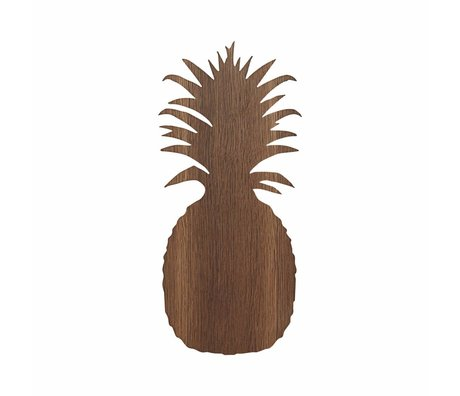 Ferm Living Lampe de mur d'ananas 17.5x38cm chêne brun