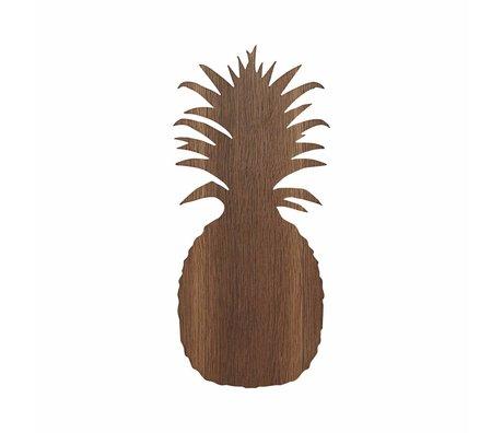 Ferm Living Wandlamp Ananas bruin eikenhout 17.5x38cm