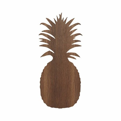 Ferm Living Wall lamp Pineapple brown oak 17.5x38cm