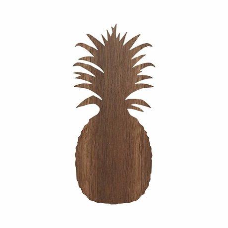 Ferm Living Wandleuchte Ananas braun Eiche 17.5x38cm