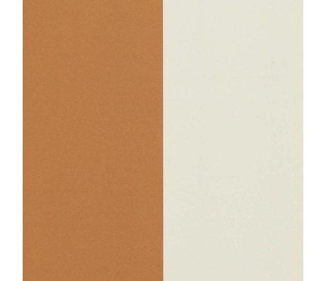 Ferm Living Fond d'écran épais Lignes crème ocre 53x1000cm blanc