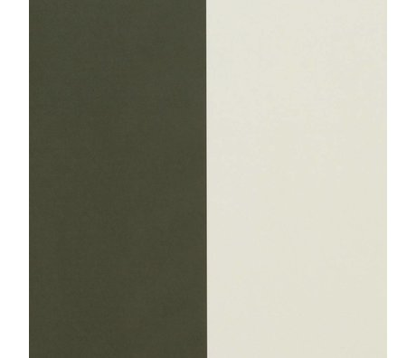 Ferm Living Wallpaper Thick Lines green cremewit 53x1000cm
