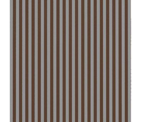 Ferm Living Fond d'écran Lignes fines gris bordeaux 53x1000cm