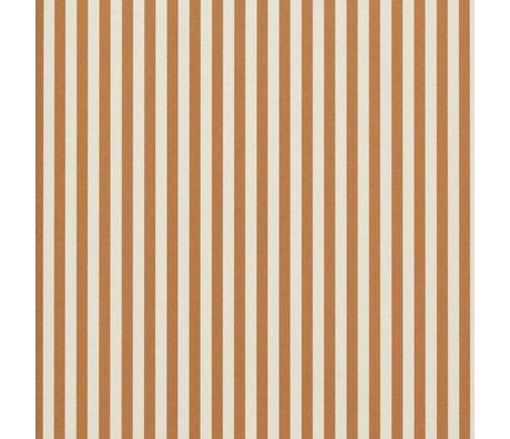 Ferm Living Papier peint Thin Lines ocre blanc crème 53x1000cm