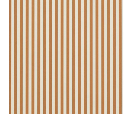 Ferm Living Wallpaper Thin Lines Orange Yellow Cream 53x1000cm