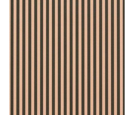 Ferm Living Behang Thin Lines groen roze 53x1000cm