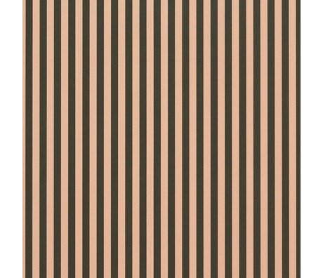 Ferm Living Wallpaper Thin Lines Green Pink 53x1000cm