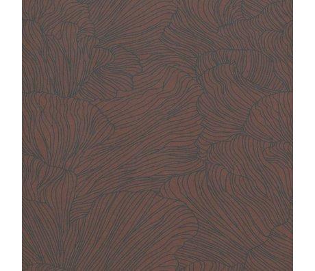 Ferm Living Wallpaper Coral burgundy red dark blue 53x1000cm