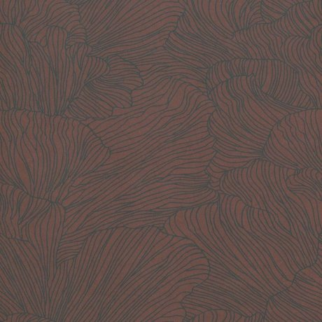Ferm Living Tapete Korallenburgunderrot dunkelblau 53x1000cm