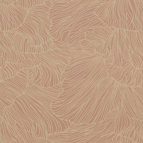 Ferm Living papier peint rose corail 53x1000cm beige