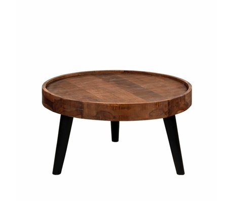 LEF collections Coffee table Dubai brown wood 80x80x40cm