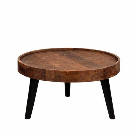 LEF collections Dubai brauner Holz Couchtisch 80x80x40cm