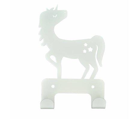 Eina Design Crochet de mur Unicorn 17x11cm en métal blanc