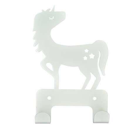 Eina Design Wall hook Unicorn white metal 17x11cm