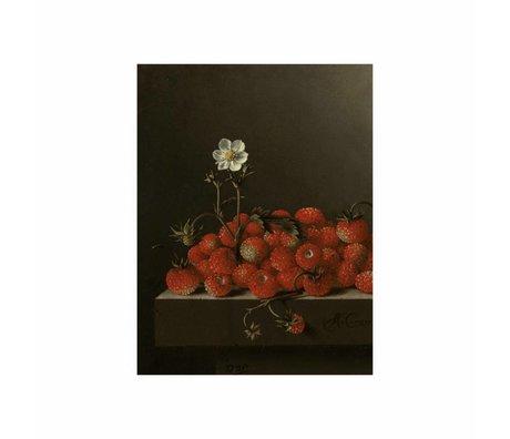 KEK Amsterdam Houten paneel Glorious Food Strawberries S 45x60cm
