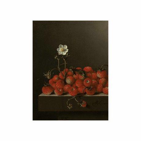 KEK Amsterdam Panneau en bois Glorious Fraises alimentaires S 45x60cm