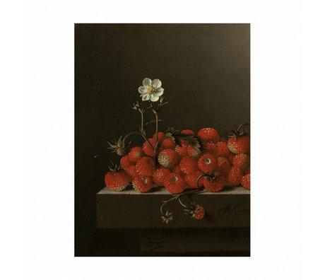 KEK Amsterdam Wood panel Glorious Food Strawberries M 60x80cm