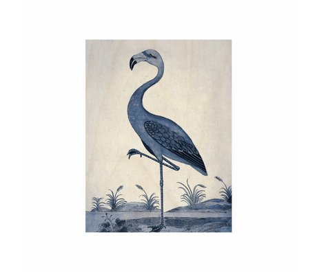 KEK Amsterdam Holzplatte Royal Blue Flamingo S 45x60cm