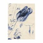 KEK Amsterdam Wooden panel Royal Blue Flowers M 60x80cm