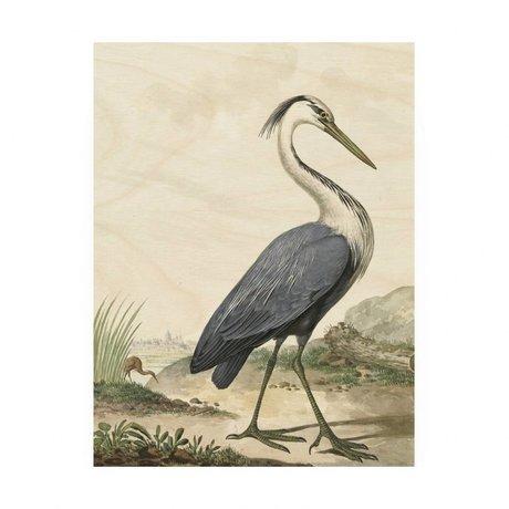 KEK Amsterdam Panneau en bois Heron / M Heron 60x80cm