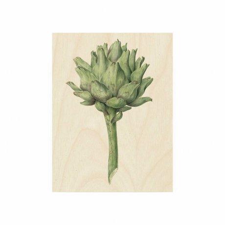 KEK Amsterdam Houten paneel Botanical Artichoke S 45x60cm