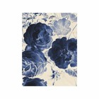 KEK Amsterdam Wooden panel Royal Blue Flowers 2 S 45x60cm