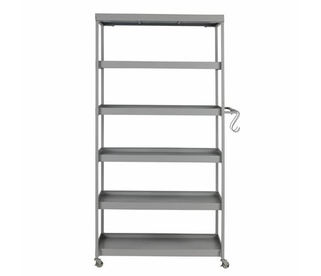 vtwonen Trolley Stack-it High bakery cart gray metal 179x98x45cm