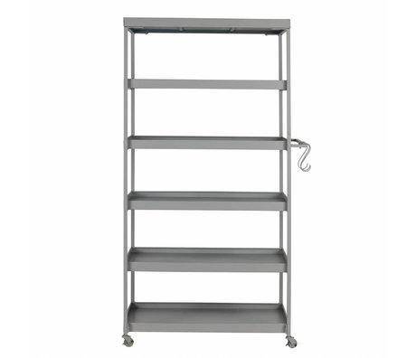 vtwonen Trolley Stack-it High bakkerskar grijs metaal 179x98x45cm