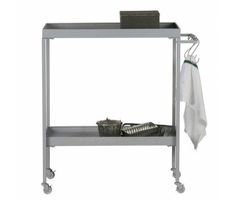 vtwonen Trolley Stack-it Low bakkerskar grijs metaal 98x90x40cm
