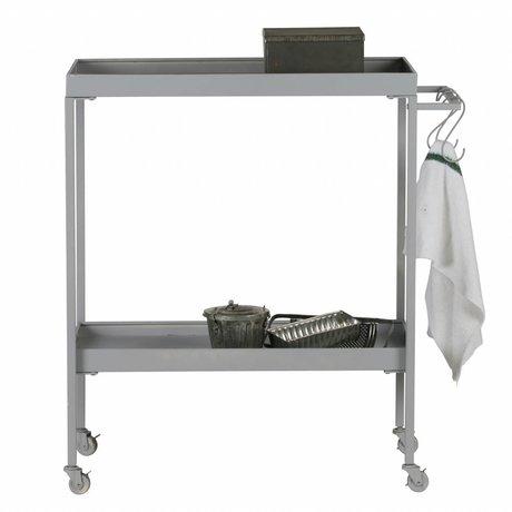vtwonen Trolley-Stack-it Low Bäcker graues Metall 98x90x40cm