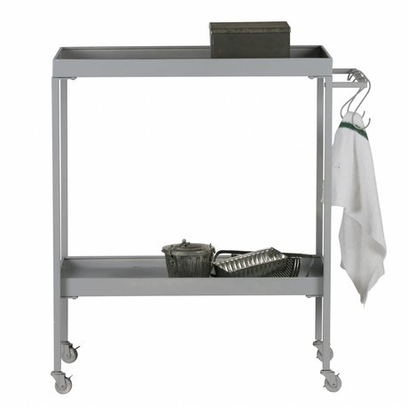 vtwonen Trolley Stack-it Low bakery cart gray metal 98x90x40cm